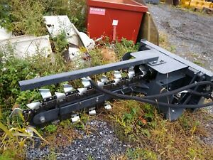 New Skidsteer Skid Steer Trencher Attachment Trench 4 Wolverine Racoon