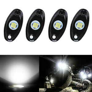 4x 9w White Cree Led Rock Light Pods Kit Off Road Truck For Jeep Ford Chevy Ram