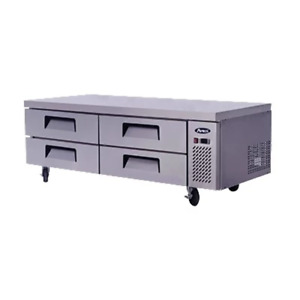 Atosa Chef Base 72 in Chef Base 27 h W 5 in Casters Mgf8453gr