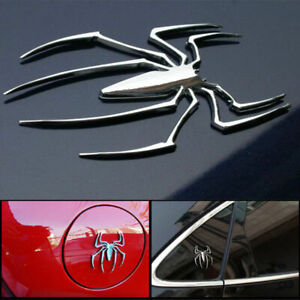 1 Pc Metal 3d Car Stickers Spider Shape Emblem Chrome 3d Car Truck Motor Decal S