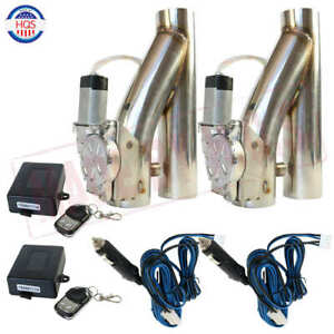 2 Set 3 Electric Exhaust Downpipe Cutout E Cut Out Valve With Controller Remote