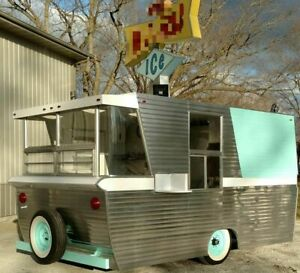 2016 Custom Vintage Diner Style Food Concession Trailer For Sale In Illinois