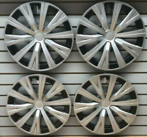 New Set 16 10 spoke Silver Hubcaps Wheelcover Fits 2018 2019 Toyota Camry