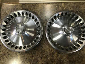 Vintage 1960 s Plymouth Division 14 Inch Hubcaps Wheel Covers Set Of 2