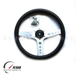 High Quality 350mm Steering Wheel Fit Nardi Aluminium Silver Spoke Racing Rally