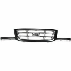 For 2001 2002 2003 Ford Ranger Front Grille Chrome Bar Type
