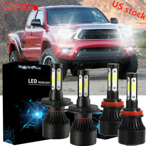 Combo Led Headlight Bulbs fog Light For Toyota Tundra 2014 2018 Tacoma 2012 2015