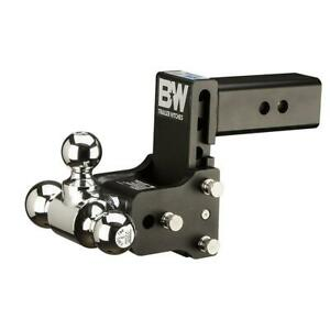 Adjustable Triple Ball Hitch Receiver Mount Trailer 5 Drop 4 5 Rise Tow Stow