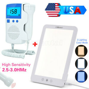 Usa Light Therapy Energy Happy Led Light Doppler Baby Heartbeat Rate Monitor