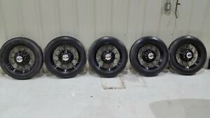 5 Ford Model A 19 Wire Spoke Wheel W Center Caps Original Restored With Tires