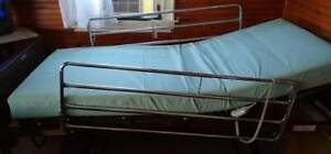 Electric Powered Hospital Bed With Mattress And Rails