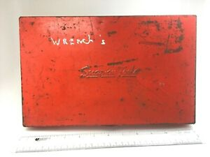 Snap on Tools Vintage Empty Red Metal Box 12 125 X 7 5