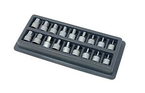 Blue Point Tools 18pc 1 4 Dr Stubby Tamper Proof Hex Dirve Set Metric