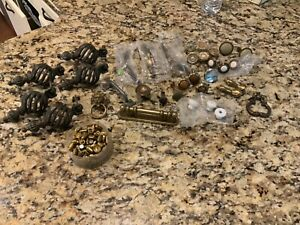 Mixed Lot 34 Vtg Antique Brass Drawer Pulls Dresser Knobs Restoration Salvage