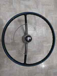1965 1966 Chevy Corvair Steering Wheel With Horn Ring Metallic Blue Nice