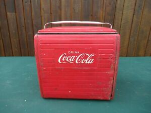 GREAT 1950s Red COCA COLA Cooler Chest with Lid Drink Soda Great  Decoration