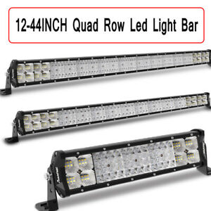 Autofeel Quad Row 12 23 29 36 44inch Led Work Light Bar Spot Flood Offroad Suv