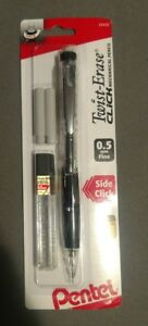 Pentel Twist Erase Click Mechanical Pencil 2 Hb Pencil Grade Black