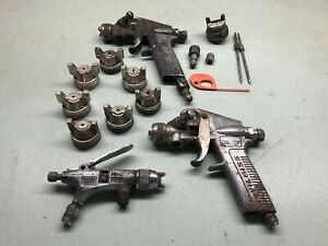 Pneumatic Spray Gun Mixed Lot Tips Accessories Devilbiss Auto Painting