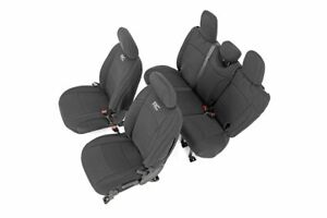 Rough Country Neoprene Seat Covers fits 2018 2020 Jeep Wrangler Jl 4dr Set