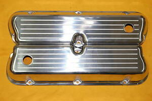 Sbf Ford 289 302 351w Milled Polished Aluminum Valve Covers New