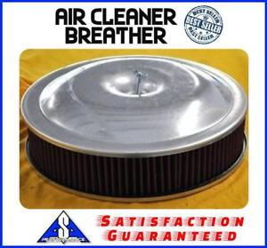 14 X 3 Spun Aluminum Washable Breather Air Cleaner Filter Reusable Oil Oiled