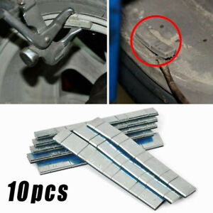 10pcs 60g Tire Wheel Balance Weights Adhesive Strips For Car Auto Motorcycle Van