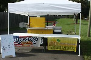 2018 4 X 8 Hot Dog Used Food Vending Cart For Sale In Florida Comes With E