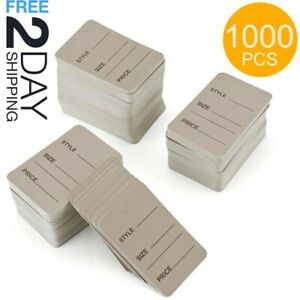 1000pcs Price Tags For Clothing Label Merchandise Jewelry Perforated Paper White