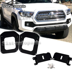 Fit 16 19 Toyota Tacoma Led Fog Light Mount Bumper Pod Driving Lamp Bracket Kit