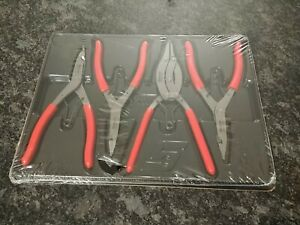 Snap On Tools Srp400b 4 Piece Transmission Snap Ring Pliers Set New