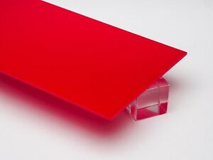 Acrylic Red Opaque Plexiglass 125 1 8 X 24 X 48 Sheet 2157