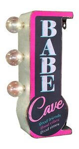 Babe Cave Double Sided Marquee Led Sign For Home Game Room Bar She Shed Arcade