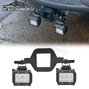 For Dodge Ram 150025003500 Rear Tow Hitch Mount Kit With18w Flood Cube Led Light Fits 2008 Dodge Ram 1500