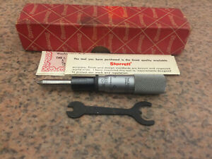 Starrett No 262rl 0 1 001 Micrometer Head With Tapered Spindle