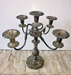 Ornate Antique The Sheffield Silver Co Candelabra 17 Tall Five Candle 1114 Usa