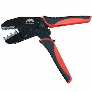 Insulated Terminal Crimper Awg 22 10 Quick Change Crimping Tool 0 5 6mm Rhino