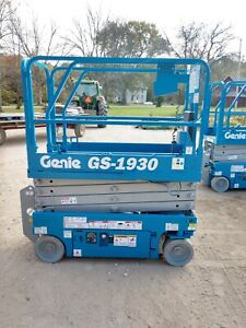 2012 Genie Gs1930 19 Electric Scissor Lift Aerial Manlift Platform 24v