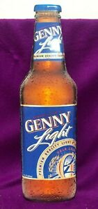 Genny Light Beer Tin Metal Sign 24 High Tin Cut Out