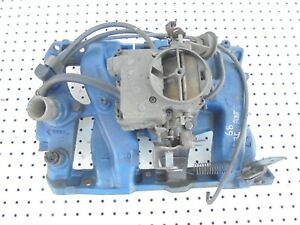 1968 Pontiac Firebird 350 V 8 2v Barrel Intake Manifold With Carburetor 9794233
