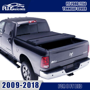 For 2009 2018 Ford F150 8 Ft Long Bed Tri Fold Tonneau Cover W O Utility Track