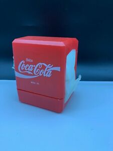Coca Cola Napkin Dispenser 5 1/2in Never Used with Boxed  Top Condition