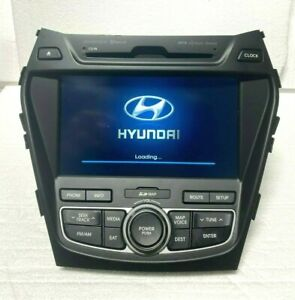 13 16 Hyundai Santa Fe 2 0l Cd Navigation Gps Bluetooth Media Radio Receiver Oem
