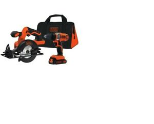 Black and Decker 20V drill and saw combo