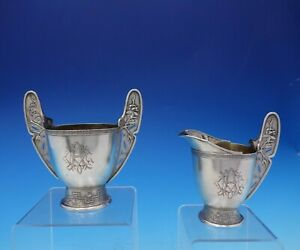 Japanese By Tiffany And Co Sterling Silver Sugar And Creamer 2pc Early 3809