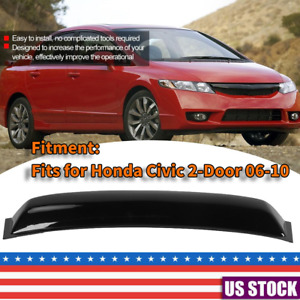 For 2006 2010 Honda Civic Black Plastic Rear Window Spoiler Roof Visor