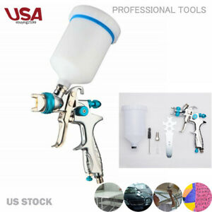 1 4mm Nozzle Hvlp Gravity Feed Professional Car Paint Spray Gun 600ml Cup