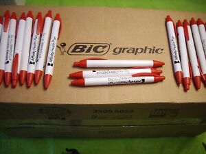 Bulk Box Of 400 Bic Retractable Ball Point Pens w existing Logo