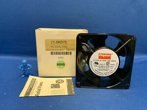 Dayton 6kd75 Square Axial Fan 4 11 16 115vac 117cfm 3150rpm