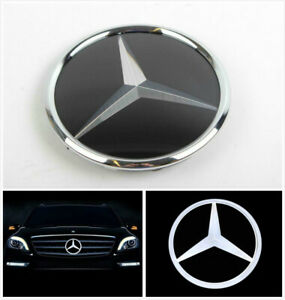 Amg Illuminated Led Light Mirror Blled Grill Star Emblem Badge For Mercedes Benz